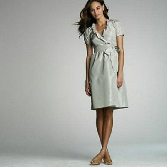 Taffeta Wrap Dress